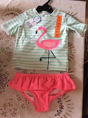 £7 • Buy Carter's 2 Piece Girls Swimming Set - Sun Protection Top & Bottoms Age 2