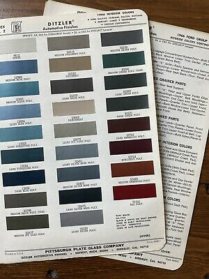 1966 Ford Mustang Torino Cougar Fairlane Interior Ppg Diztler Paint Chips • 14.53£