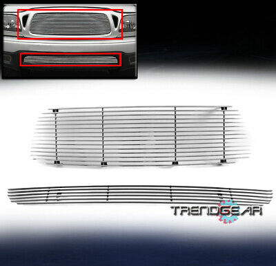 $74.95 • Buy For 01-04 Toyota Tacoma Upper + Bumper Billet Grille Insert Combo Replacement