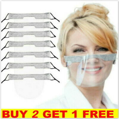 £2.87 • Buy Reusable Face Visor Mask Shield Half PPE Plastic Clear Face Protection Shield
