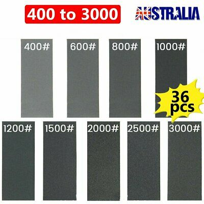 AU14.80 • Buy 36 Pack Wet And Dry Sand Paper Mixed Assorted 400-3000 Grit Car Paint Sandpaper