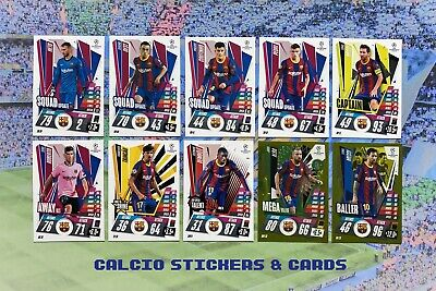 £2.75 • Buy Match Attax Extra 2020/21 Full FC Barcelona Team Set 10 Cards Base Foil + Messi