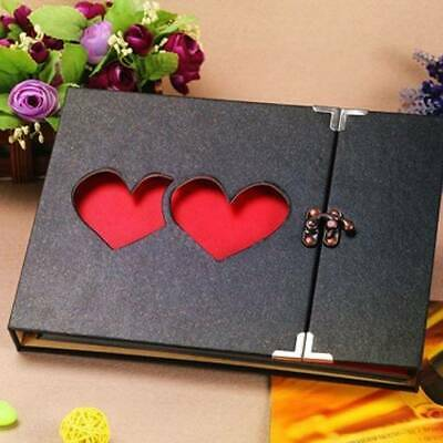 31 Page Photo Album Leather DIY Scrapbook Gifts Vintage Albums Travel Holiday UK • 5.99£