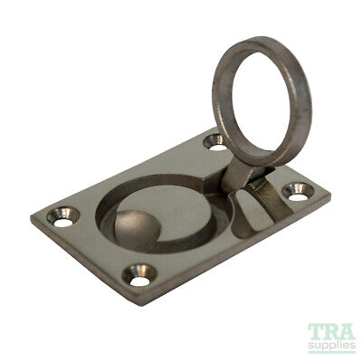£4.45 • Buy Hatch Lifting Ring Stainless Steel 62mm X 45mm Flush Marine Deck Pull Lift NEW