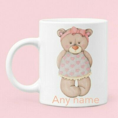 £10 • Buy Personalised Teddy Bear Mugs, Cuddly Toy, Birthday, Gift, Work, Office, Home