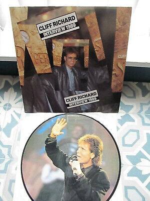 Cliff Richard -  Interview 1989. Picture Disc Lp. The Young 1. • 8£
