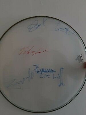 Sex Pistols Autographs ..full Set Signed Remo Drum Obtained In Person • 250£