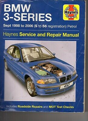 HAYNES  BMW 3-SERIES Petrol 1998-2006 SERVICE AND REPAIR MANUAL GOOD CONDITION  • 1.50£