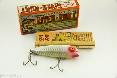 $ CDN18.20 • Buy Vintage Heddon Darting Zara Spook Antique Fishing Lures With Box & Catalog CL1