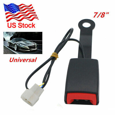$15.99 • Buy Universal Car Front Seat Belt Buckle Socket Plug Connector & Warning Cable New