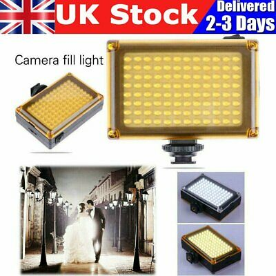Bright 96 LED Studio Video Light For DSLR Camera Camcorder Photography Photo UK • 12.90£