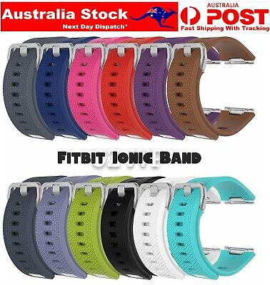 AU5.50 • Buy Fitbit Ionic Replacement Silicone Watch Wrist Sports Band Soft Strap Wristband