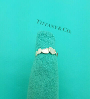 £274.99 • Buy Tiffany & Co. Silver Paloma Picasso Crown Heart Ring Size N 1/2UK,7 US, 54 1/2EU