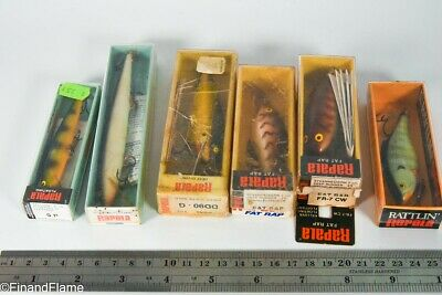 $ CDN21.97 • Buy Vintage Rapala Minnow Antique Fishing Lure In Box Lot LC33