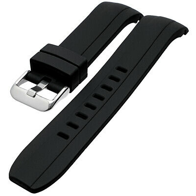 £9.99 • Buy Black Curved End Divers Silicone Watch Strap To Fit Seiko SKX007 22mm