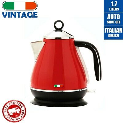 AU59.99 • Buy Vintage Electric Kettle Red 1.7L Stainless Steel Auto OFF 2200W | Not Delonghi