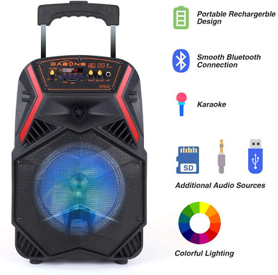 $44.99 • Buy Bluetooth Speaker 8  1000W Portable FM Subwoofer Heavy Bass Sound System Party