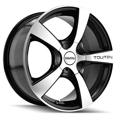 $575.96 • Buy 4-Touren TR9 17x7 4x100/4x4.5  +42mm Black/Machined Wheels Rims 17  Inch