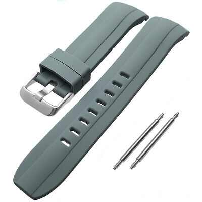 £9.99 • Buy Grey Curved End Divers Silicone Watch Strap To Fit Seiko SKX007 22mm