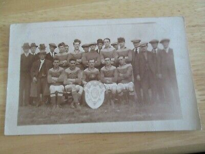 £4.99 • Buy Postcard Of Football Team With Shield (unknown Location/dates)
