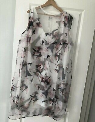 AU12.50 • Buy Asos Curve Dress BNWOT Size 22 Two Layered With The Underdress Can Be Worn Alone