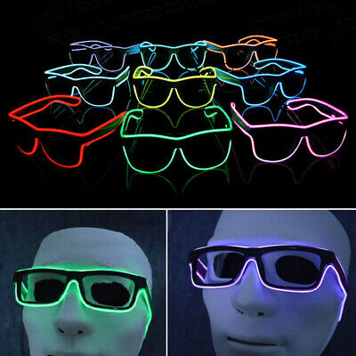 £4.45 • Buy Nw Special Shutter Light Up EL Wire Glow Shades Party Bar Eye-wear Glasses