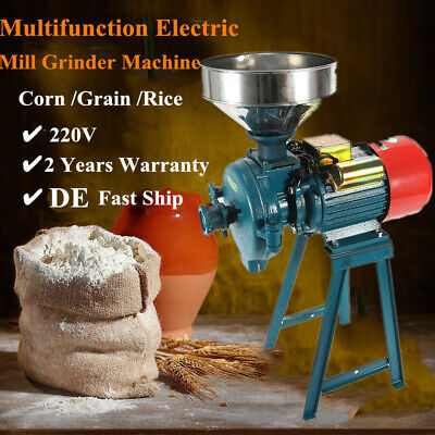 $189.13 • Buy 220V Feed Flour Grinding Miller Milling Machine With Funnel 1500W Rice Corn