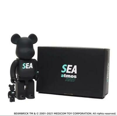 $730 • Buy Medicom Toy Be@rbrick Atmos X WIND AND SEA 100%&400% New From Japan