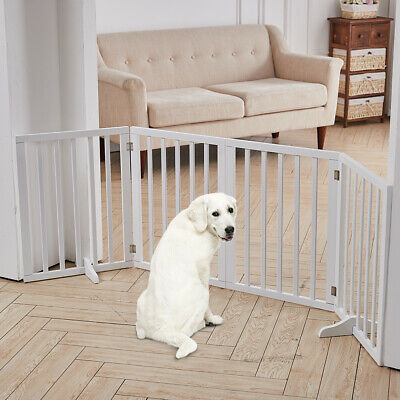 £64.95 • Buy Folding Pet Gate Dog Fence Child Safety Indoor Durable Free Standing Wood