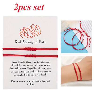 £2.38 • Buy 2pcs Lucky Red String Bracelet Kabbalah Amulet 7 Knots Protection Rope Gifts Hot
