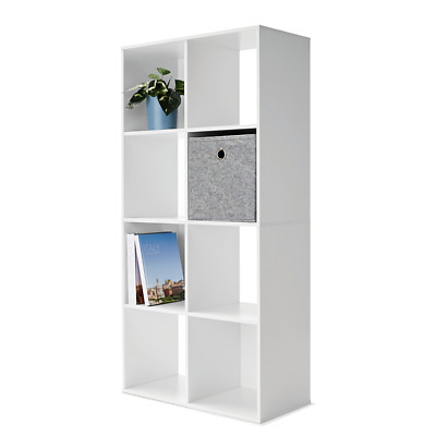 AU56.70 • Buy 8 Cube Storage Shelf DIY White Cabinet Cupboard Organizer Bookshelf Display Unit