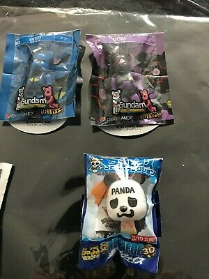 $5.94 • Buy Set Lot De 3 Gundam Bearbrick Panda Bear Bleu Et Violet Mini Ours Neuf Japan