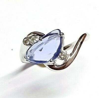 AU347.16 • Buy 9K Solid Gold Best Quality Diamond With Sapphire Gems Jewelry Fine Fashion Rings