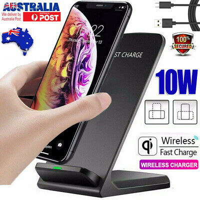 AU17.99 • Buy Qi Wireless Charger 10W FAST Charging Stand For IPhone 11 Samsung S21 S9 Note 10