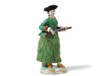 $ CDN338.36 • Buy Porcelain Figurine  Lady With A Gun . Germany, Factory Frankenthal, Year 1938.