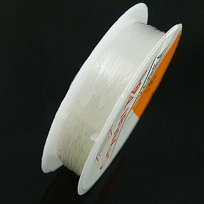 $4.99 • Buy Elastic Stretch Beading Jewelry Craft Cord 0.8mm Clear 9.5 Meter Spool W9