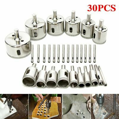 30pcs Diamond Cutter Coated Core Hole Saw Set Holes Saw Drill Bit Tile FOR Glass • 15.79£
