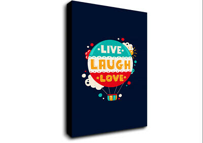 £17.99 • Buy Live Laugh Love 4 Text Quotes 19977 Canvas Print Wall Art