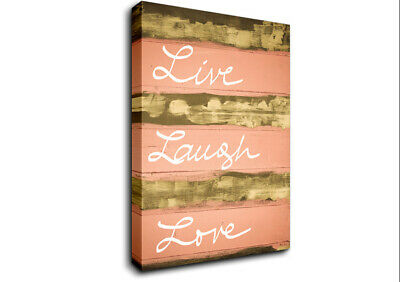 £17.99 • Buy Live Laugh Love 3 Text Quotes 20004 Canvas Print Wall Art
