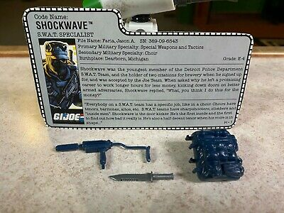 $ CDN0.01 • Buy Vintage GI-JOE COBRA Parts LOT + Card 1988 SHOCKWAVE (v1) S.W.A.T. SPECIALIST