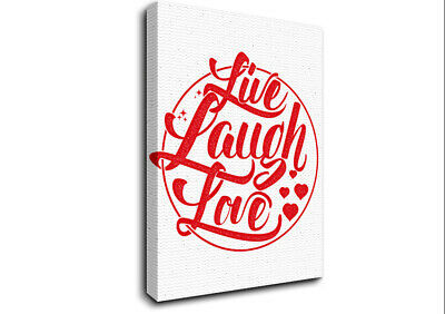 £17.99 • Buy Live Laugh Love 1 Text Quotes 17869 Canvas Print Wall Art