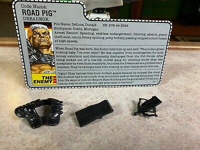 $ CDN0.01 • Buy Vintage GI-JOE COBRA Parts Lot & File Card 1988 ROAD PIG (v1) DREADNOK