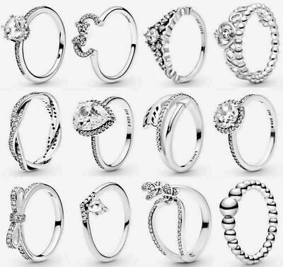 £13.55 • Buy 2021 NEW Genuine Sterling Silver Pandora Sparkling Family Ring & With Gift Box