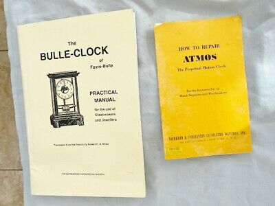 Clock Bulle & Atmos Clock Books How To Set Up Repair Atmos And Bulle Clocks Nice • 6.50£
