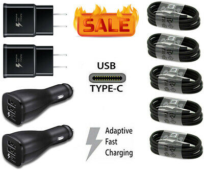 $ CDN12.12 • Buy Fast Car Wall Charger Type-C USB-C Cable For Samsung Galaxy S8 S9 S10 S20 Note 9