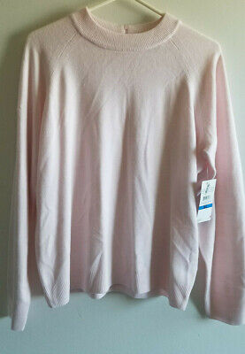 $ CDN18.73 • Buy Debbie Morgan Pink Ice Raglan Zip Back Pullover Sweater Size Xl New  With Tags