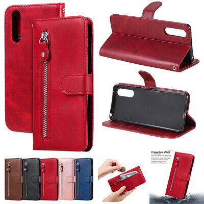 AU11.29 • Buy For Sony Xperia XZ2 XZ3 L4 1 Zipper Leather Wallet Case Magnetic Card Flip Cover
