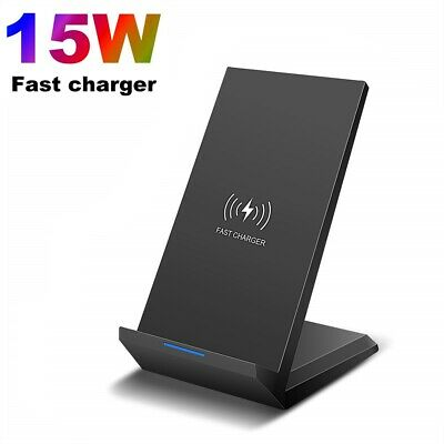 AU16.99 • Buy 15W Qi Fast Wireless Charger Dock Stand Charging For IPhone 12 Pro Max 11 XS XR