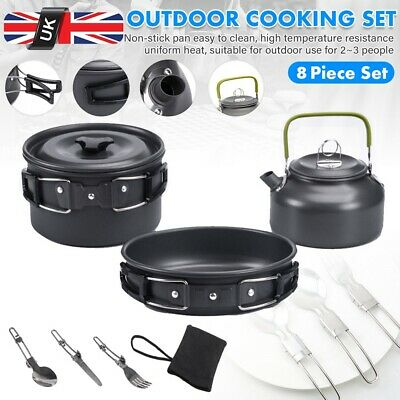 £19.99 • Buy Camping Cookware Kit Outdoor Picnic Hiking Cooking Fishing Portable Equipment UK