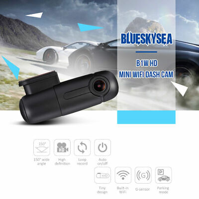 AU69.91 • Buy B1W Blueskysea 1080P Mini WiFi IMX323 Dash Camera Capacitor 360° Car DVR Vehicle